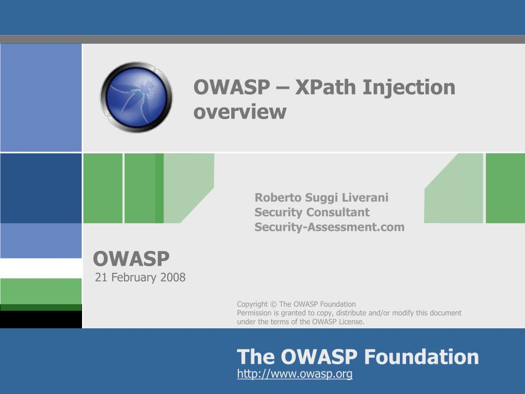 owasp xpath injection overview l.