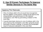 c use of known techniques to improve similar devices in the same way18