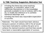 g tsm teaching suggestion motivation test