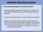 parallel structure cont30