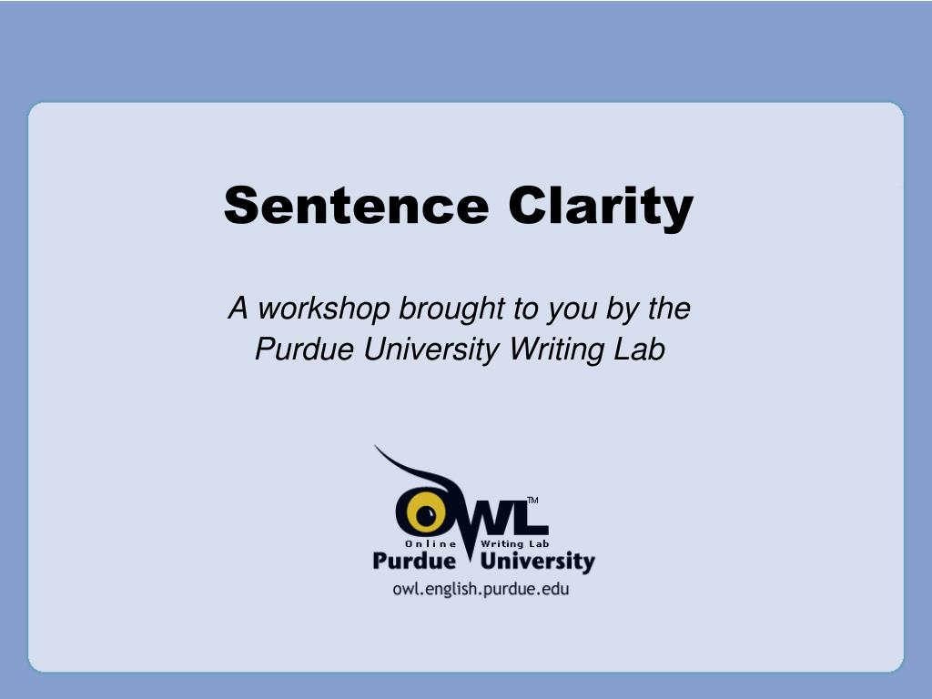 sentence clarity l.