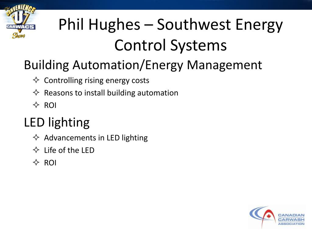 Phil Hughes – Southwest Energy Control Systems