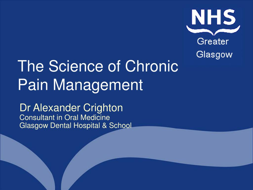 the science of chronic pain management l.