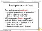 basic properties of sets