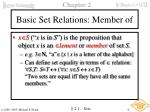 basic set relations member of