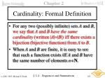 cardinality formal definition