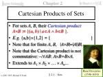 cartesian products of sets