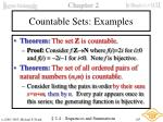 countable sets examples