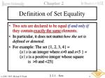 definition of set equality