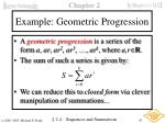 example geometric progression