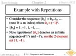 example with repetitions