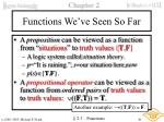 functions we ve seen so far