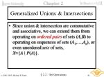generalized unions intersections