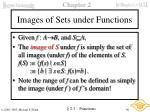 images of sets under functions