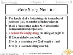 more string notation