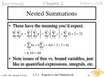 nested summations