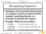 recognizing sequences