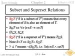 subset and superset relations