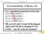 uncountability of reals fin