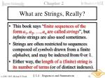 what are strings really