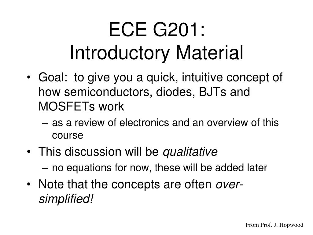 ece g201 introductory material l.
