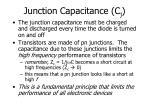 junction capacitance c j