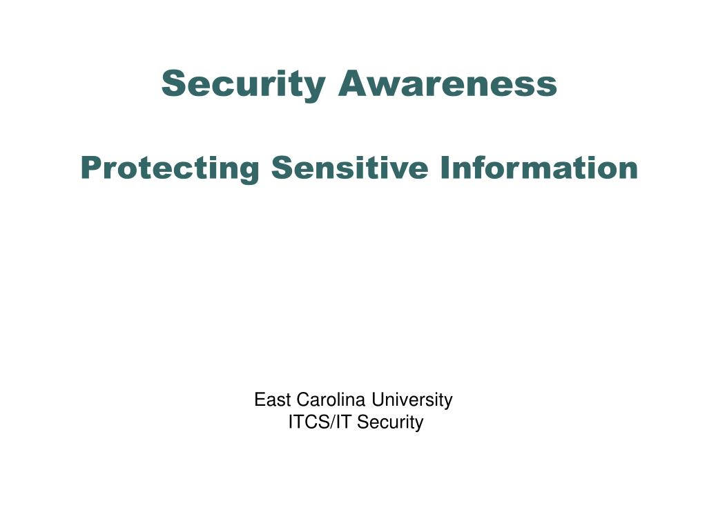 security awareness protecting sensitive information l.