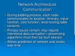 network architecture communication