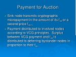 payment for auction