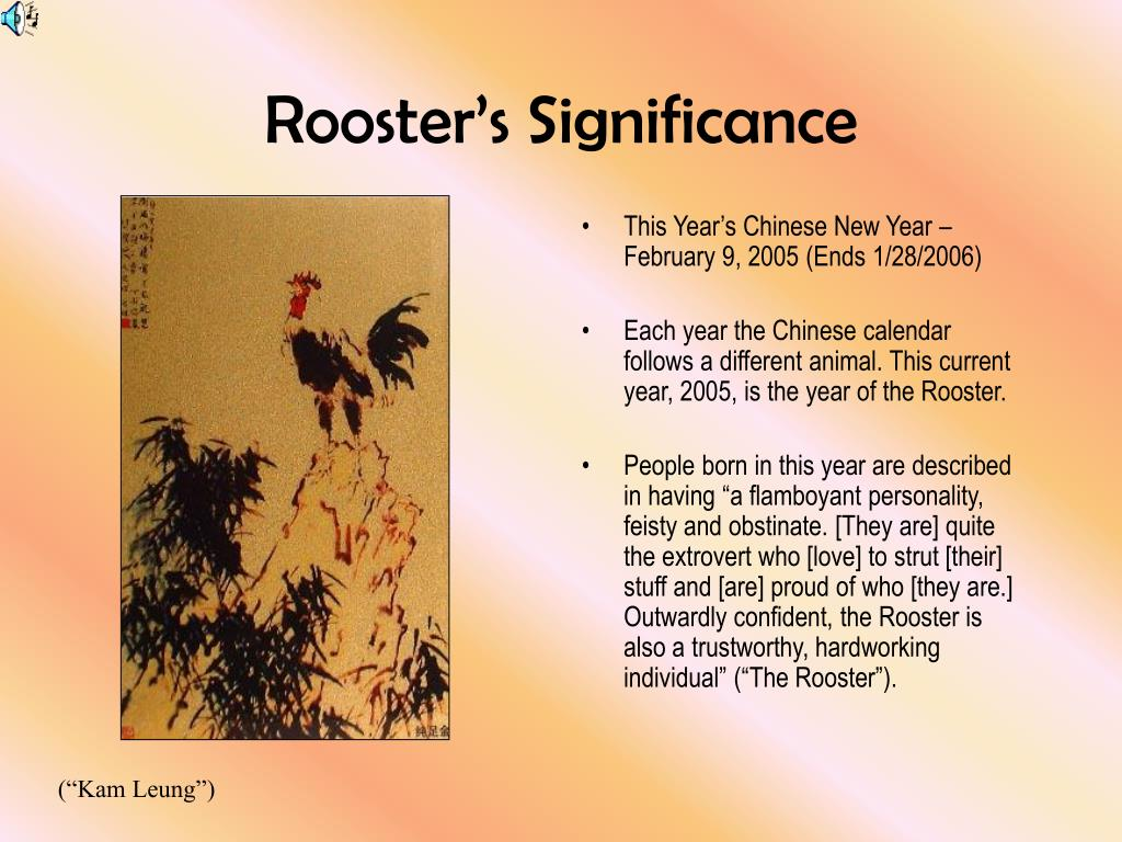 Rooster's Significance
