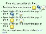 financial securities in part 1