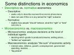 some distinctions in economics