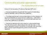 conceivable actuarial approaches24