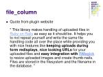 file column
