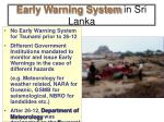 early warning system in sri lanka