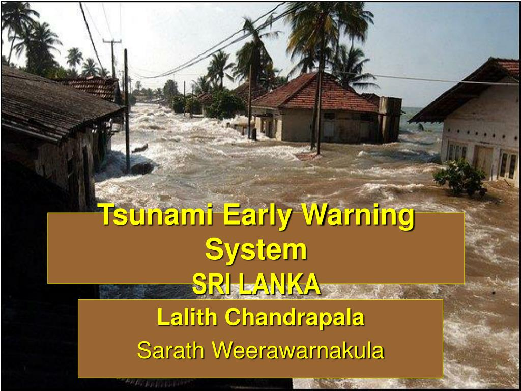 tsunami early warning system sri lanka l.