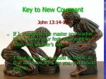 key to new covenant