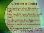 a problem of timing