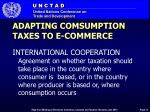 adapting comsumption taxes to e commerce