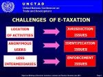 challenges of e taxation