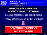 digitizable goods policy implications