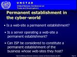 permanent establishment in the cyber world