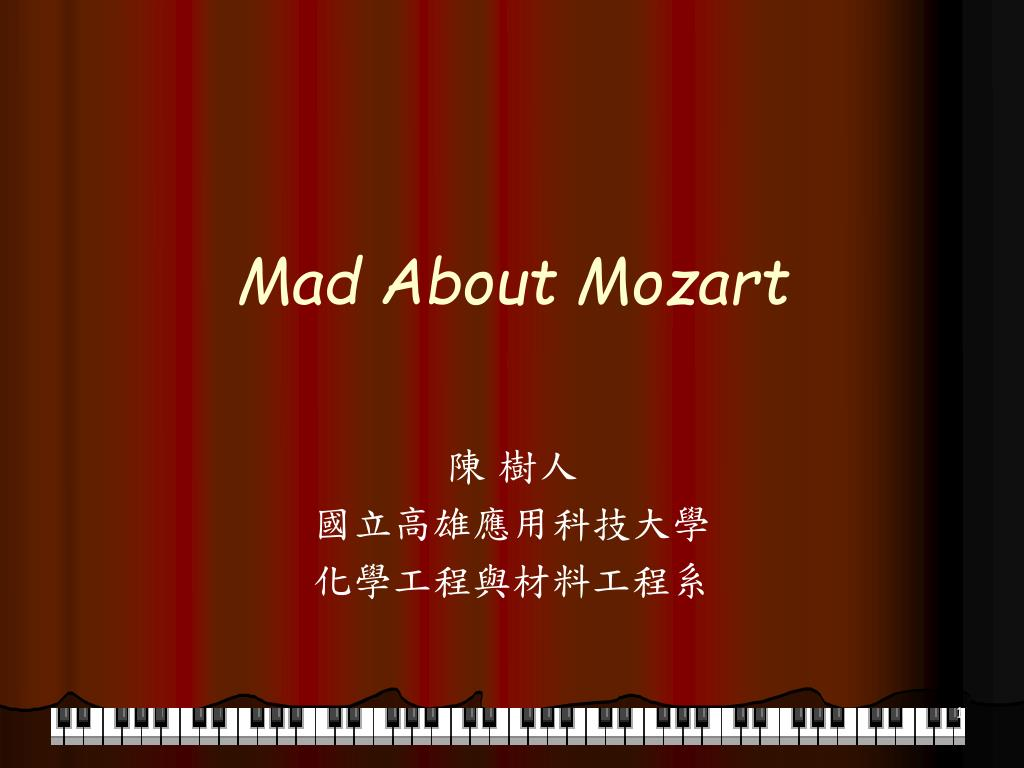 mad about mozart l.