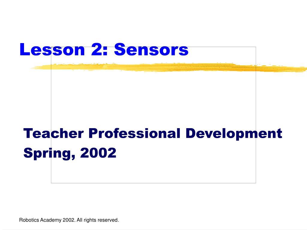 lesson 2 sensors l.
