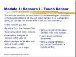 module 1 sensors i touch sensor