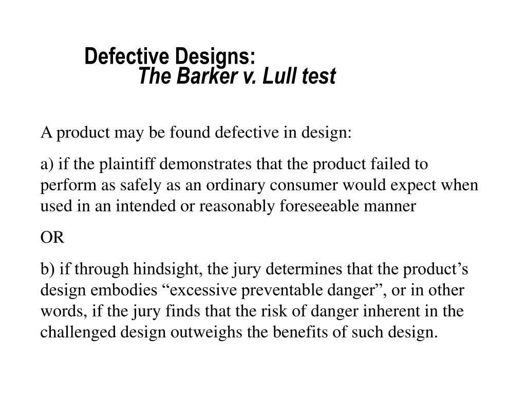 Defective Designs:
