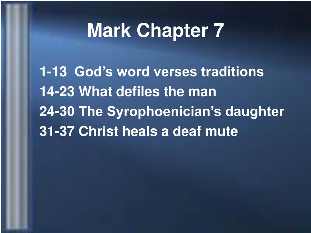 mark chapter 7 l.