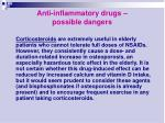 anti inflammatory drugs possible dangers17