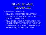 islam islamic islamicate