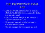the prophets of axial age